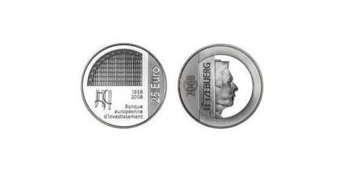 25 Euro Luxembourg Silver