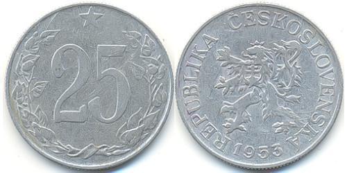 25 Heller Czechoslovakia (1918-1992) Aluminium