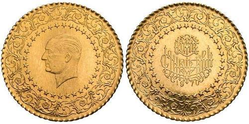 25 Kurush Turkey (1923 - ) Gold Kemal Ataturk