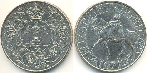 25 Penny United Kingdom (1922-) Copper/Nickel Elizabeth II (1926-)