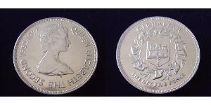25 Penny Gibilterra Rame-Nichel Elisabetta II (1926-)