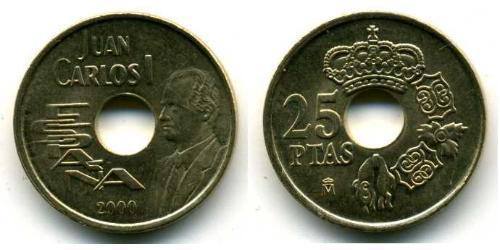 25 Peseta Kingdom of Spain (1976 - ) Bronze/Aluminium Juan Carlos I of Spain (1938 - )