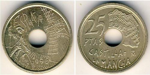 25 Peseta Kingdom of Spain (1976 - ) Copper/Nickel