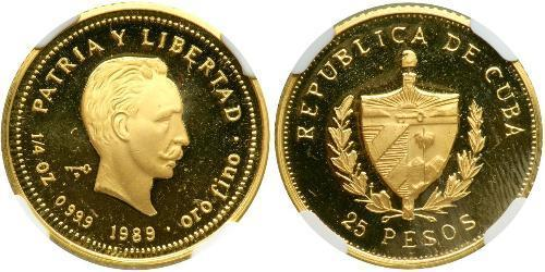 25 Peso Kuba Gold Jose Julian Marti Perez (1853 - 1895)