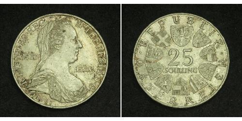 25 Shilling 奥地利 銀 玛丽亚·特蕾西亚 (1717 - 1780)