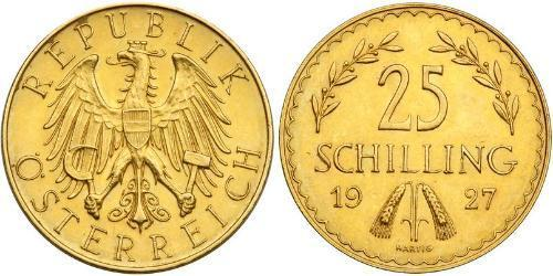 25 Shilling First Austrian Republic (1918-1934) Gold
