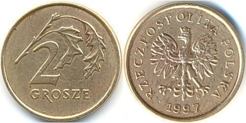 2 Грош Республика Польша (1991 - ) Латунь