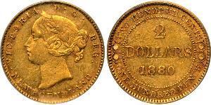 2 Долар Сполучене королівство Великобританії та Ірландії (1801-1922) Золото Вікторія (1819 - 1901)