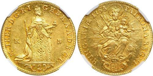 2 Дукат Королiвство Угорщина (1000-1918) Золото Maria Theresa of Austria (1717 - 1780)