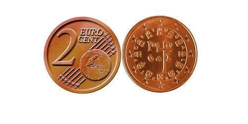 2 Евроцент Португальская Республика (1975 - ) Сталь/Медь