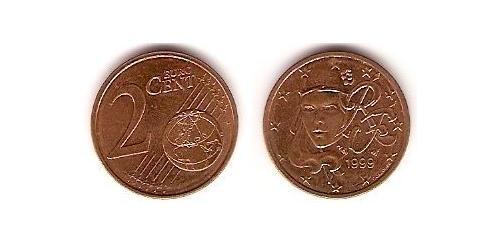 2 Евроцент Пятая французская республика (1958 - ) Сталь/Медь