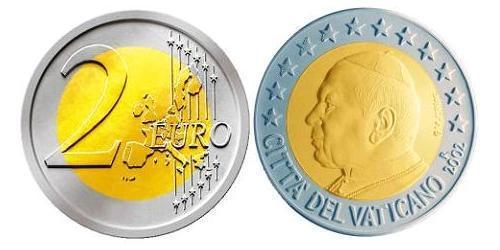 2 Евро Ватикан (1926-) Биметалл Иоанн Павел II (1920 - 2005)