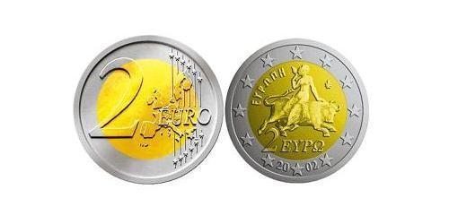 2 Евро Греческая Республика  (1974 - ) Биметалл