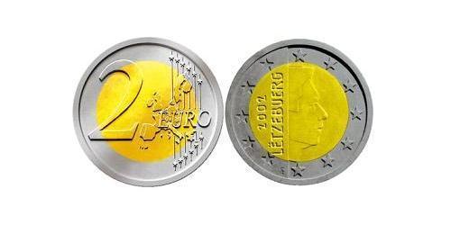 2 Евро Люксембург Биметалл