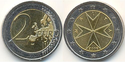 2 Евро Мальта Биметалл