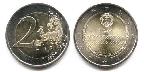 2 Евро Португальская Республика (1975 - ) Биметалл