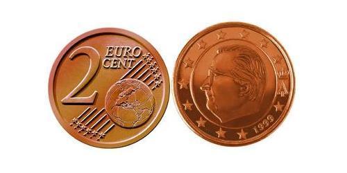 2 Евро Бельгия Сталь/Медь Альберт II король Бельгии