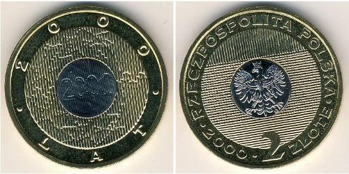 2 Злотый Республика Польша (1991 - ) Биметалл