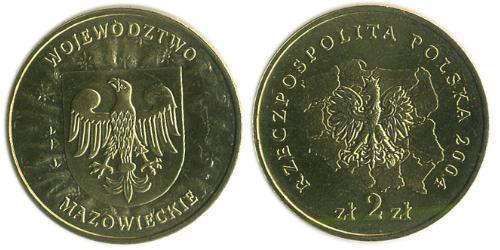 2 Злотый Республика Польша (1991 - ) Латунь