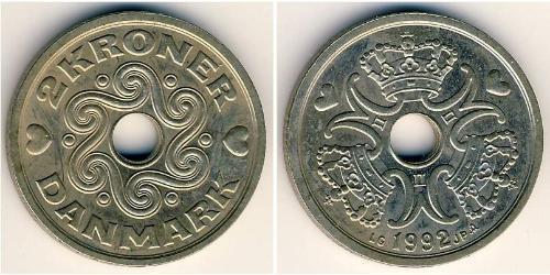 2 Крона Дания Никель/Медь