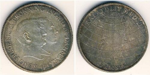 2 Крона Дания Серебро