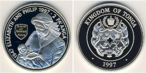 2 Паанга Тонга Серебро