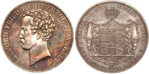 2 Талер Ангальт-Дессау (1603 -1863) Серебро Леопольд IV ,герцог Анхальта(1794 – 1871)