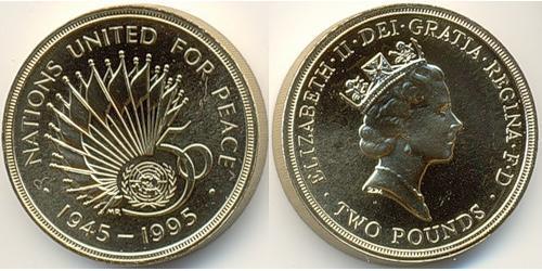 2 Фунт Великобритания (1922-)  Елизавета II (1926-)
