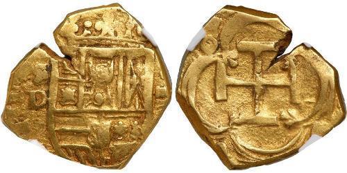 2 Эскудо Габсбургская Испания (1506 - 1700) Золото Филипп III король Испании (1578-1621)