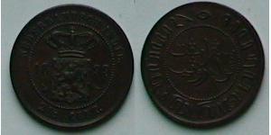 2 1/2 Cent Indes orientales néerlandaises (1800 - 1942) Cuivre