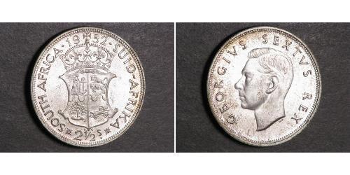 2 1/2 Шиллинг Южно-Африканская Республика Серебро Георг VI (1895-1952)