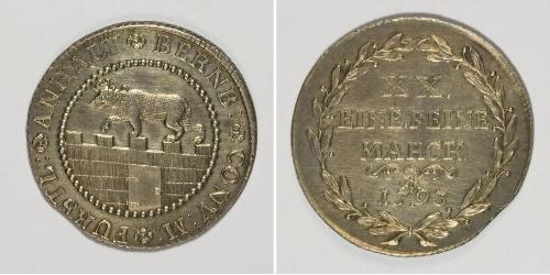 2/3 Thaler Anhalt-Bernburg (1603 - 1863) Silver Frederick Albert, Prince of Anhalt-Bernburg (1735 – 1796)