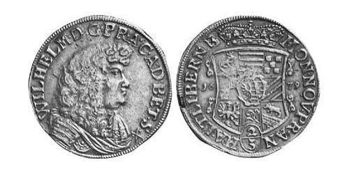 2/3 Thaler Anhalt-Harzgerode (1635–1709) Silver