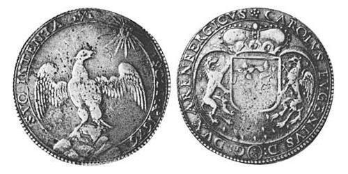 2/3 Thaler County of Arenberg (1549 - 1810) Silver Charles Eugene, 2nd Duke of Arenberg (1633–1681)
