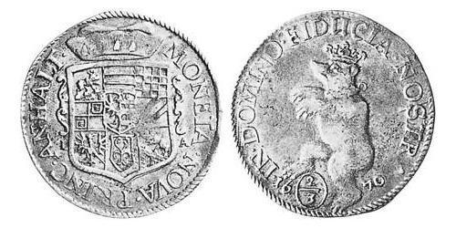 2/3 Thaler Principality of Anhalt (1212 - 1806) Silver