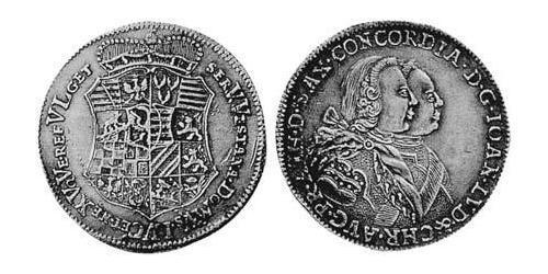2/3 Thaler Principality of Anhalt-Zerbst (1544 - 1796) Silver John Louis II, Prince of Anhalt-Zerbst (1688 – 1746)