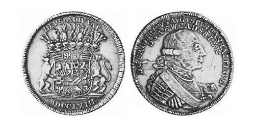 2/3 Thaler Principality of Anhalt-Zerbst (1544 - 1796) Silver Frederick Augustus, Prince of Anhalt-Zerbst (1734 – 1793)