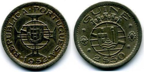 2,5 Ескудо Португальска Гвінея (1474-1974) Нікель/Мідь