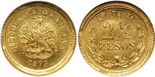 2.5 Песо Мексиканські Сполучені Штати (1867 - ) Золото