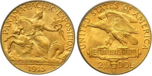 2.5 Dollar 美利堅合眾國 (1776 - ) 金