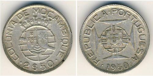 2,5 Escudo Mozambico Argento