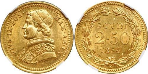 2.5 Scudo Kirchenstaat (752-1870) Gold Pius IX (1792- 1878)