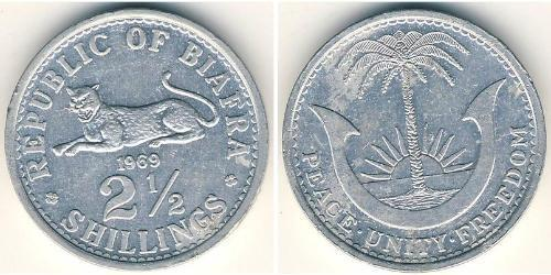 2.5 Shilling Republic of Biafra (1967-1970) Aluminium