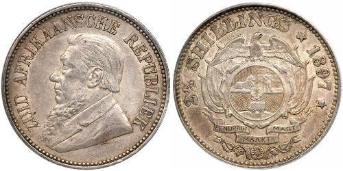 2.5 Shilling South Africa Silver Paul Kruger (1825 - 1904)