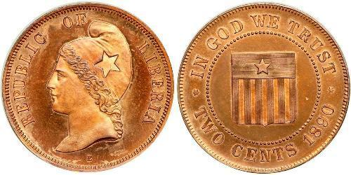 2 Cent Liberia Copper