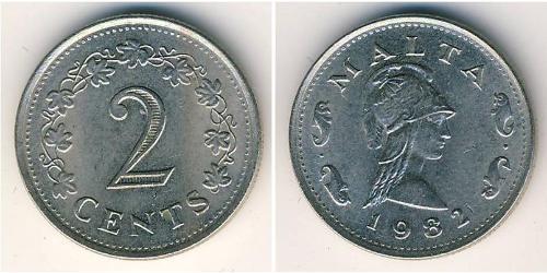 2 Cent Malta Copper/Zinc