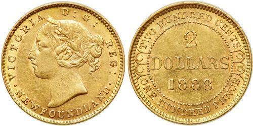 2 Dollaro Regno Unito di Gran Bretagna e Irlanda (1801-1922) Oro Vittoria (1819 - 1901)