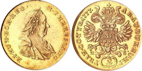 2 Ducat 神圣罗马帝国 (962 - 1806) 金 玛丽亚·特蕾西亚 (1717 - 1780)