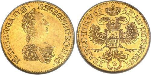 2 Ducat Principality of Transylvania (1571-1711) / Holy Roman Empire (962-1806) Gold Maria Theresa of Austria (1717 - 1780)