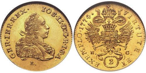 2 Ducat Principality of Transylvania (1571-1711) / Holy Roman Empire (962-1806) Gold Joseph II, Holy Roman Emperor  (1741 - 1790)